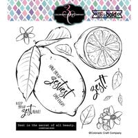 Colorado Craft Company - Big and Bold Collection - Clear Photopolymer Stamps - Lemon Zest