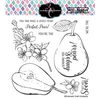 Colorado Craft Company - Big and Bold Collection - Clear Photopolymer Stamps - Hugs and Pears