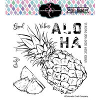 Colorado Craft Company - Big and Bold Collection - Clear Photopolymer Stamps - Aloha Pineapple
