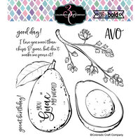 Colorado Craft Company - Big and Bold Collection - Clear Photopolymer Stamps - Avocado Love