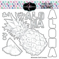 Colorado Craft Company - Big and Bold Collection - Dies - Aloha Pineapple