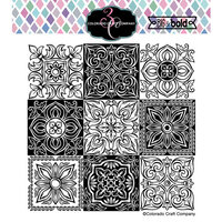 Colorado Craft Company - Big and Bold Collection - Clear Photopolymer Stamps - Small Italian Tiles