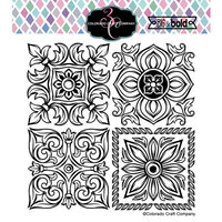 Colorado Craft Company - Big and Bold Collection - Clear Photopolymer Stamps - Large Italian Tiles