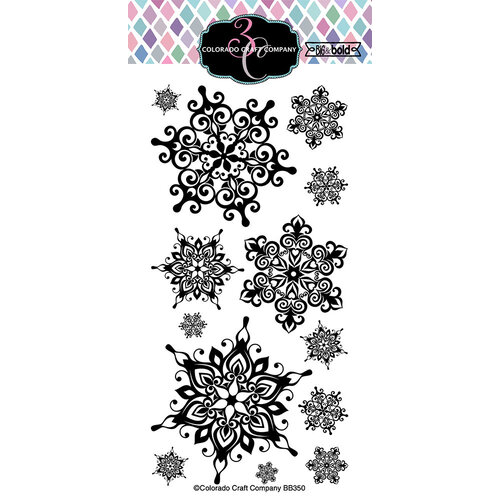 Colorado Craft Company - Big and Bold Collection - Clear Photopolymer Stamps - Nordic Snowflakes