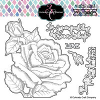 Colorado Craft Company - Big and Bold Collection - Dies - Sympathy and Friendship Rose