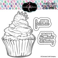 Colorado Craft Company - Big and Bold Collection - Dies - Sweet Friend Cupcake