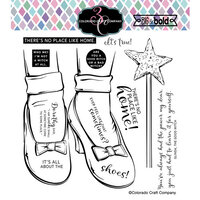 Colorado Craft Company - Big and Bold Collection - Clear Photopolymer Stamps - Ruby Slippers