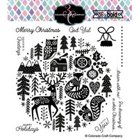 Colorado Craft Company - Big and Bold Collection - Clear Photopolymer Stamps - Nordic Ornament