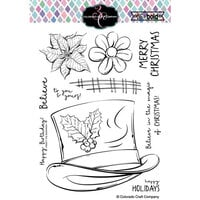 Colorado Craft Company - Big and Bold Collection - Clear Photopolymer Stamps - Frosty's Hat