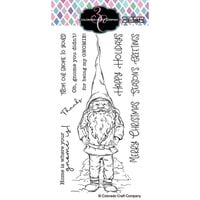 Colorado Craft Company - Big and Bold Collection - Clear Photopolymer Stamps - Slimline Gnome