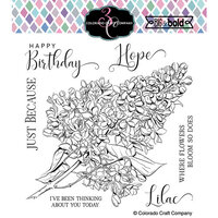 Colorado Craft Company - Big and Bold Collection - Clear Photopolymer Stamps - Just Because Lilacs