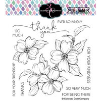 Colorado Craft Company - Big and Bold Collection - Clear Photopolymer Stamps - Thank You Dogwood