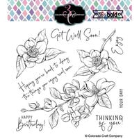 Colorado Craft Company - Big and Bold Collection - Clear Photopolymer Stamps - Thinking of You Magnolias