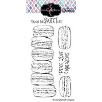 Colorado Craft Company - Big and Bold Collection - Clear Photopolymer Stamps - Slimline - Macarons