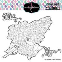 Colorado Craft Company - Big and Bold Collection - Dies - Just Because Lilacs