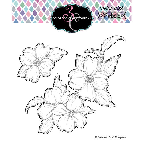 Colorado Craft Company - Big and Bold Collection - Dies - Thank You Dogwood