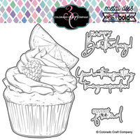 Colorado Craft Company - Big and Bold Collection - Dies - Citrus Berry Cupcake