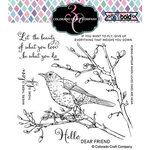 Colorado Craft Company - Big and Bold Collection - Clear Photopolymer Stamps - Dear Friend Robin