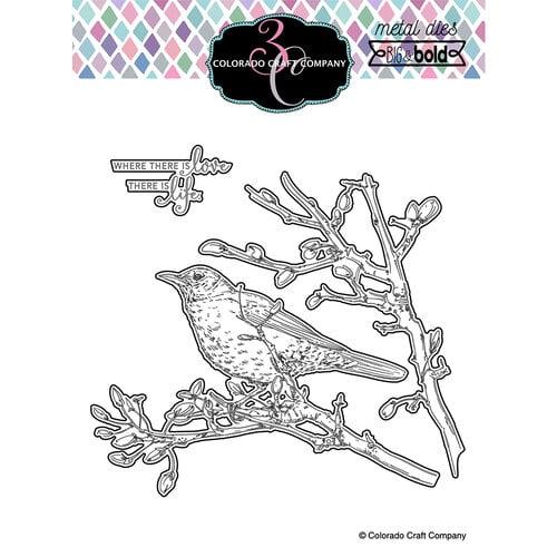 Colorado Craft Company - Big and Bold Collection - Dies - Dear Friend Robin