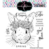 Colorado Craft Company - Big and Bold Collection - Clear Photopolymer Stamps - Hello Bunny
