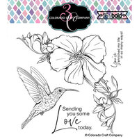 Colorado Craft Company - Big and Bold Collection - Clear Photopolymer Stamps - Hibiscus Hummingbird