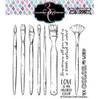 Colorado Craft Company - Big and Bold Collection - Clear Photopolymer Stamps - Color My World