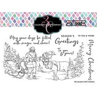 Colorado Craft Company - Big and Bold Collection - Christmas - Clear Photopolymer Stamps - Santa's Sleigh
