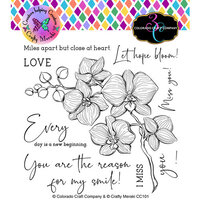 Colorado Craft Company - Clear Photopolymer Stamps - Orchids