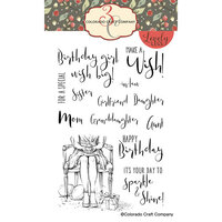 Colorado Craft Company - Lovely Legs Collection - Clear Photopolymer Stamps - Happy Birthday