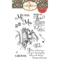 Colorado Craft Company - Lovely Legs Collection - Clear Photopolymer Stamps - Mr. and Mrs.