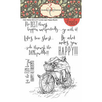 Colorado Craft Company - Lovely Legs Collection - Clear Photopolymer Stamps - Happy Bicycle