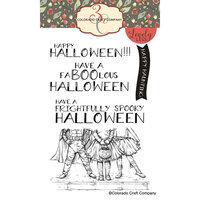 Colorado Craft Company - Lovely Legs Collection - Clear Photopolymer Stamps - Happy Halloween