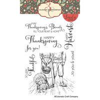 Colorado Craft Company - Lovely Legs Collection - Clear Photopolymer Stamps - Happy Thanksgiving