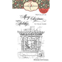 Colorado Craft Company - Lovely Legs Collection - Clear Photopolymer Stamps - Santa is Coming