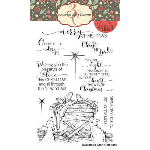 Colorado Craft Company - Lovely Legs Collection - Clear Photopolymer Stamps - Bethlehem's Light