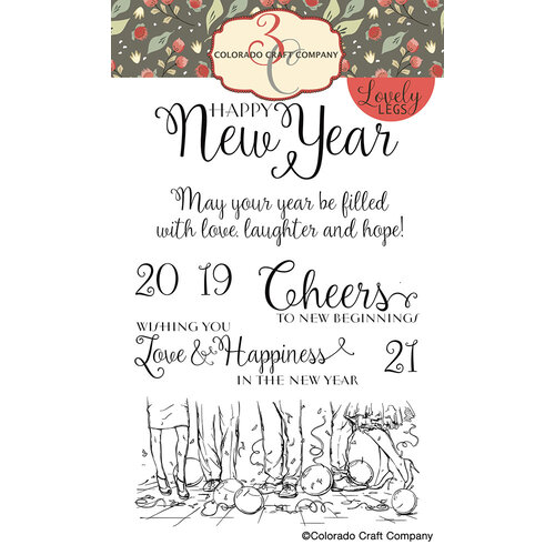 Colorado Craft Company - Lovely Legs Collection - Clear Photopolymer Stamps - Happy New Year