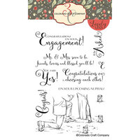 Colorado Craft Company - Lovely Legs Collection - Clear Photopolymer Stamps - Engagement