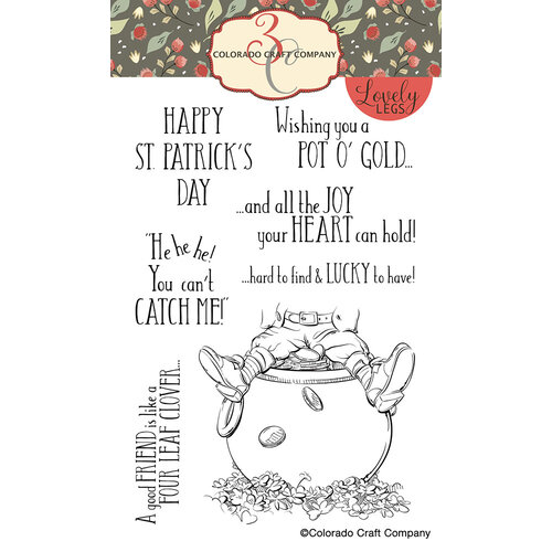 Colorado Craft Company - Lovely Legs Collection - Clear Photopolymer Stamps - St. Patrick's Day