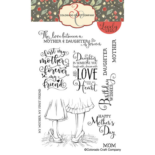 Colorado Craft Company - Lovely Legs Collection - Clear Photopolymer Stamps - Mothers and Daughters