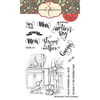 Colorado Craft Company - Lovely Legs Collection - Clear Photopolymer Stamps - Tired as a Mother