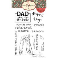 Colorado Craft Company - Lovely Legs Collection - Clear Photopolymer Stamps - Tee-Rific Dad