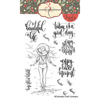 Colorado Craft Company - Lovely Legs Collection - Clear Photopolymer Stamps - Enjoy Every Moment