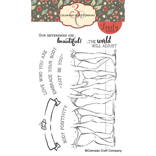 Colorado Craft Company - Lovely Legs Collection - Clear Photopolymer Stamps - Body Positivity