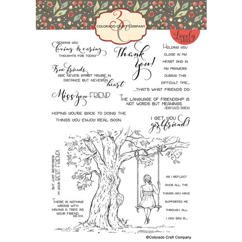 Colorado Craft Company - Lovely Legs Collection - Clear Photopolymer Stamps - Reflection Tree