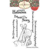 Colorado Craft Company - Lovely Legs Collection - Clear Photopolymer Stamps - Witch's Monkeys