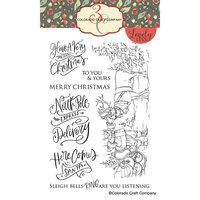 Colorado Craft Company - Lovely Legs Collection - Clear Photopolymer Stamps - Santa and Rudolph