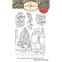 Colorado Craft Company - Lovely Legs Collection - Clear Photopolymer Stamps - Mommy Kissing Santa