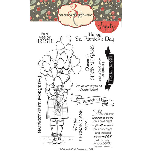 Colorado Craft Company - Lovely Legs Collection - Clear Photopolymer Stamps - Shenanigans