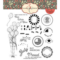 Colorado Craft Company - Lovely Legs Collection - Clear Photopolymer Stamps - Red, White and Blue