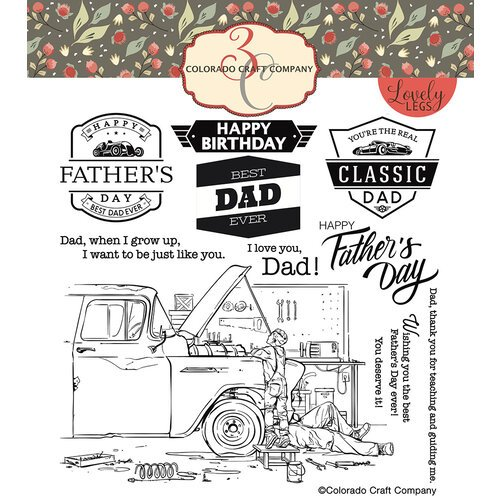 Colorado Craft Company - Lovely Legs Collection - Clear Photopolymer Stamps - Father and Son